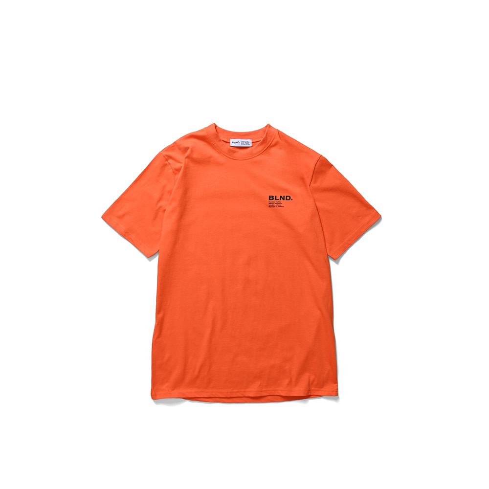 BLND Language Logo Short Sleeves - Orange