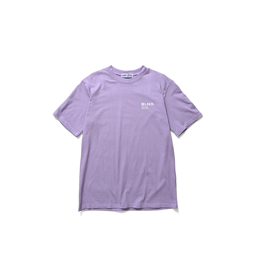 BLND Language Logo Short Sleeves - Light Purple