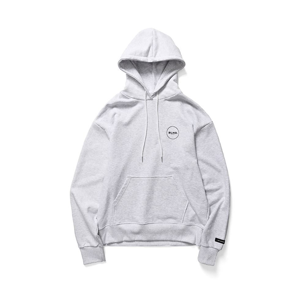 BLND Circle Logo Hoodie - Light Grey