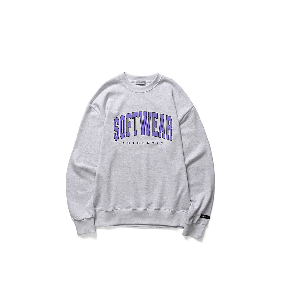 BLND Softwear Printing Sweatshirts - Light Grey