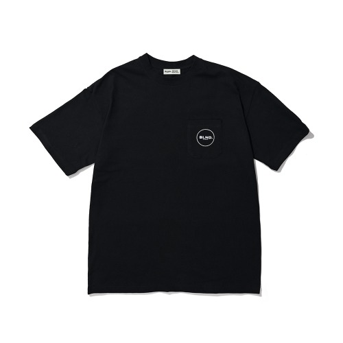 BLND Pocket Circle Logo Short  Sleeves - Black