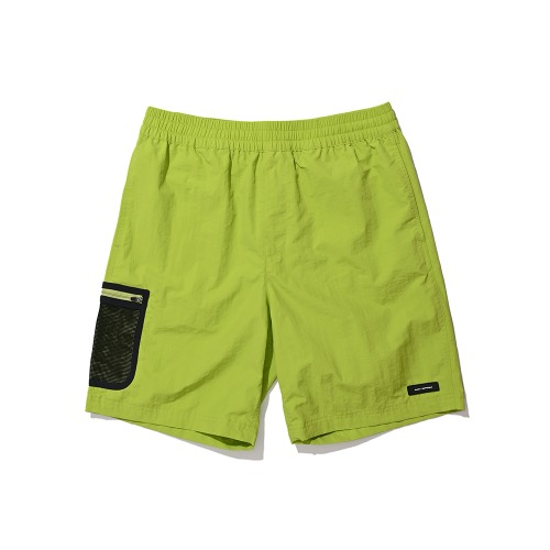 BLND Mesh Side Pocket Nylon Short Pants - Lime