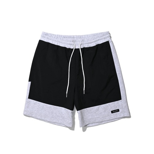 BLND Cotton Nylon Short Pantes - Black/Oatmeal