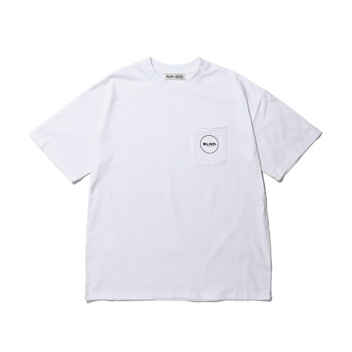 BLND Pocket Circle Logo Short  Sleeves - White