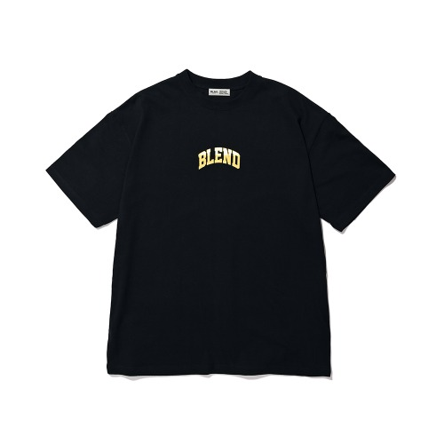 BLND TwoTone Graphic Color Short  Sleeves - Black