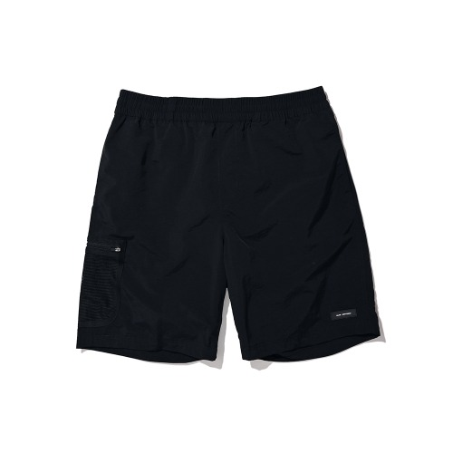 BLND Mesh Side Pocket Nylon Short Pants - Black
