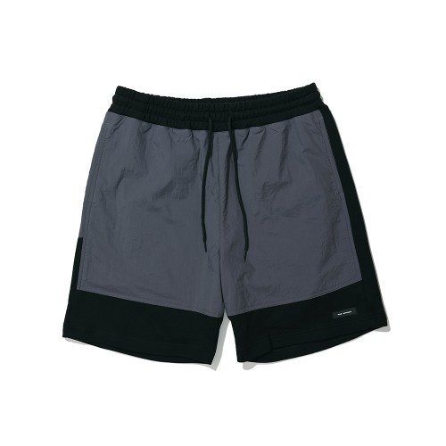 BLND Cotton Nylon Short Pantes - Charcoal/Black
