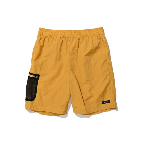 BLND Mesh Side Pocket Nylon Short Pants - Tangerine