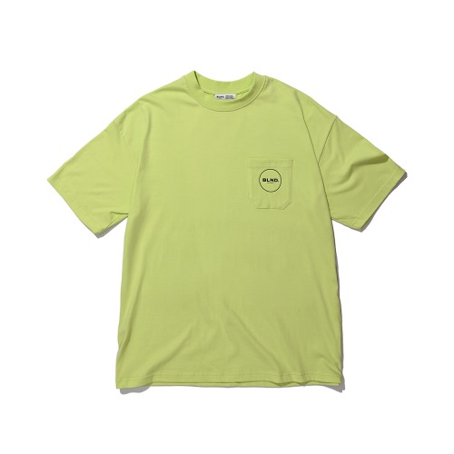 BLND Pocket Circle Logo Short  Sleeves - Lime