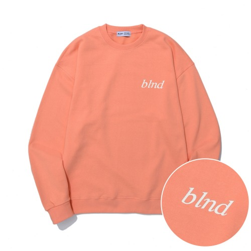 Lettering Logo Heavy Weight Sweatshirt - Coral Pink