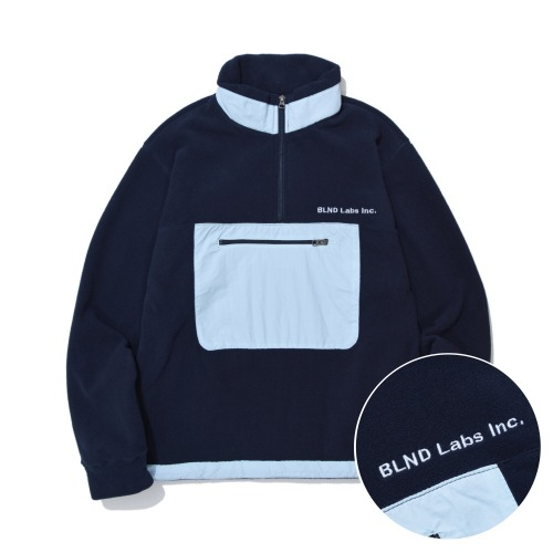 Nylon Fleece Anorak - Navy