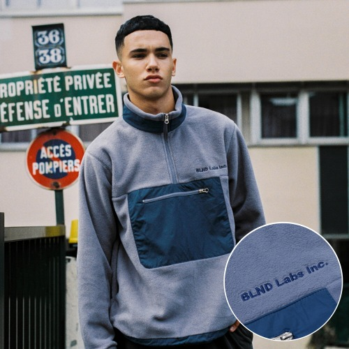 Nylon Fleece Anorak - Blue