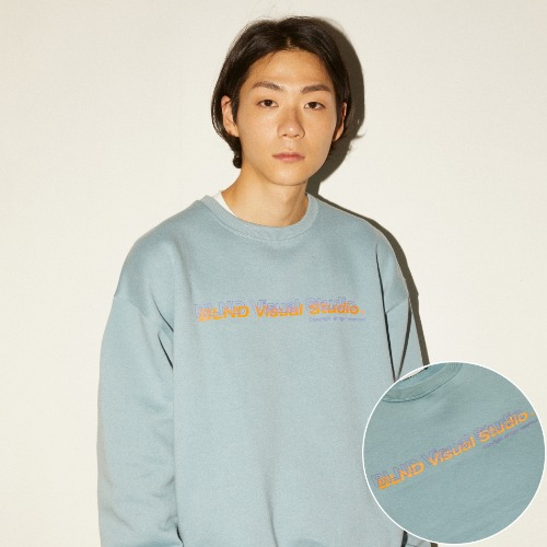 VISUAL LOGO HEAVY SWEATSHIRT - MINT