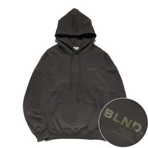 SINATURE LOGO HEAVY HOODIE - DARK GREY