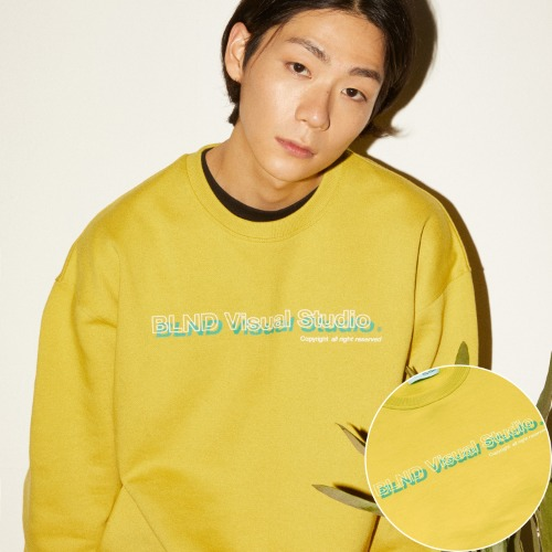 VISUAL LOGO HEAVY SWEATSHIRT - YELLOW