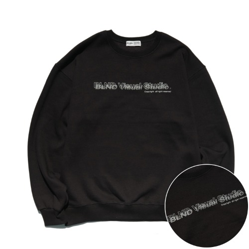 VISUAL LOGO HEAVY SWEATSHIRT - BLACK