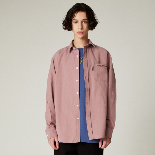 SLOGAN POCKET SHIRTS - INDI PINK