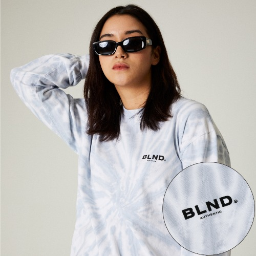 TIEDYE SIGNATURE LONG SLEEVES - COOL GREY
