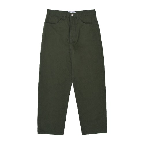 WIDE COTTON PANTS - KHAKI