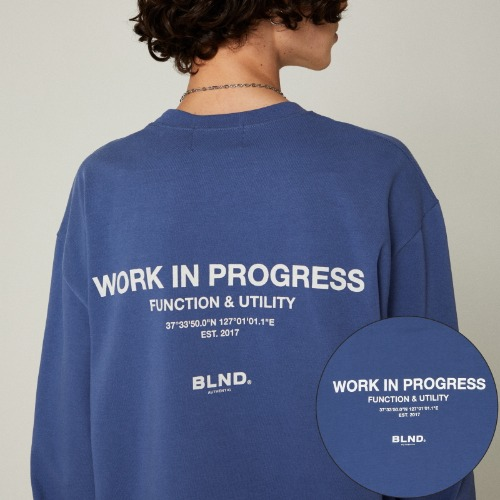 SLOGAN LOGO LONG SLEEVES - INDIGO BLUE