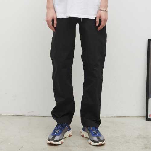 Unisex Tapered Banding Pants - Black