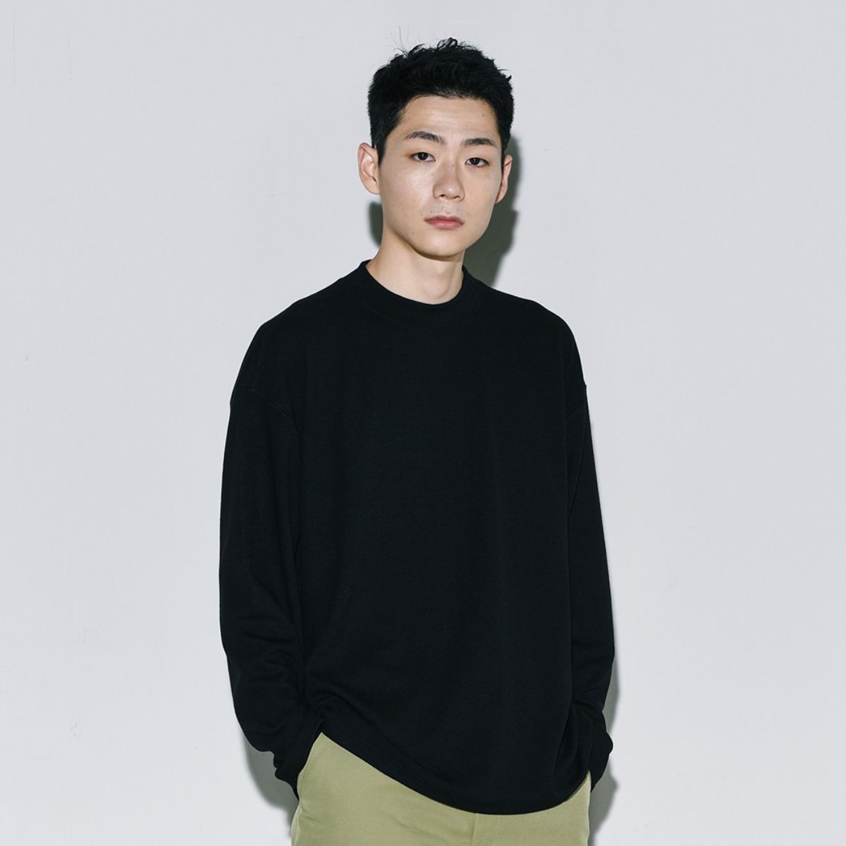 Soft Mockneck Knit - Black