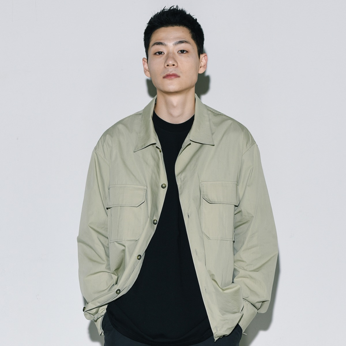 Bio String Shirts Jacket - Olive Green