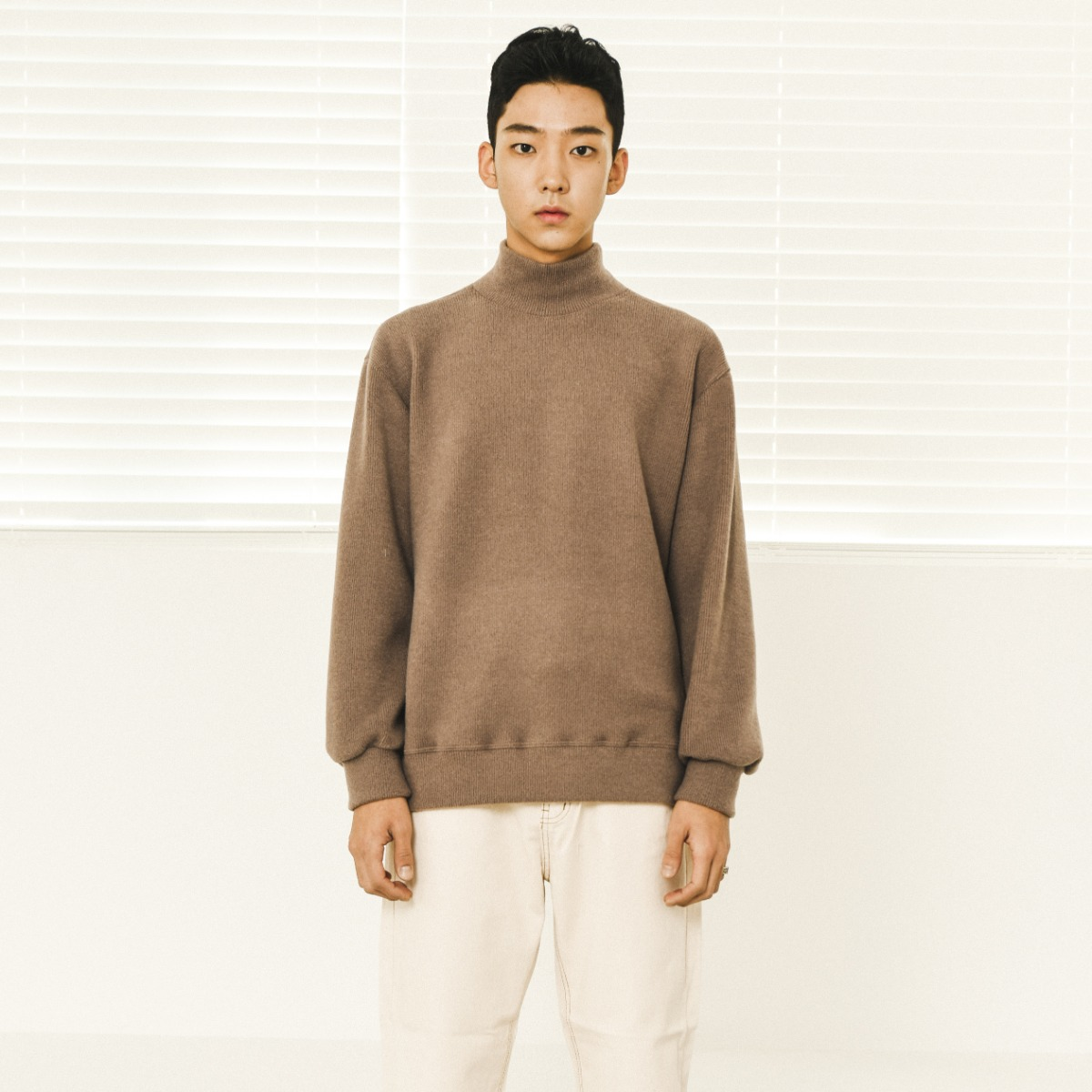 Soft Poloneck Knit - Brown
